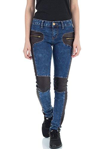 Mujer Skinny para malucas Azul Vaqueros 5EqEatfxw