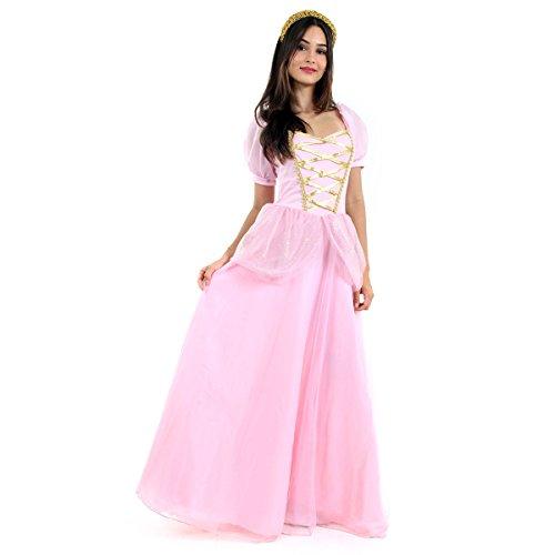 Princesa Adulto Sulamericana Fantasias Rosa M 42/44
