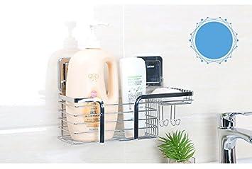 Monimg Badezimmerkorb Duschkorb mit Haken und starken ...