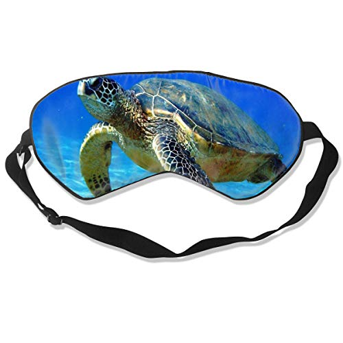 Sleep Mask Turtle Swimming In The Water Eye Mask Cover With Adjustable Strap Eye Shades For Travel, Nap, Meditation, Blindfold