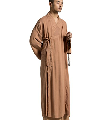 ng Gown Traditional Buddhist Meditation Monk Robe (L) ()