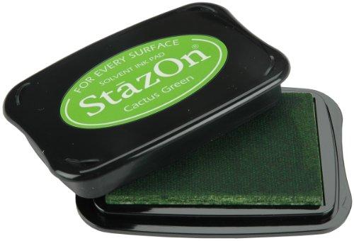 Tsukineko Full-Size StazOn Multi-Surface Inkpad, Cactus Green