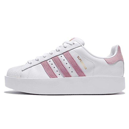 adidas Superstar Bold W, Zapatillas de Deporte para Mujer Blanco (Ftwbla/Rosmar/Dormet)