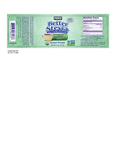 Now  Better Stevia Organic Sweetener, 4 oz.