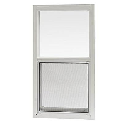 Park Ridge AMHW1427PR Aluminum Mobile Home Single Hung Window 14 Inch x 27 Inch, White