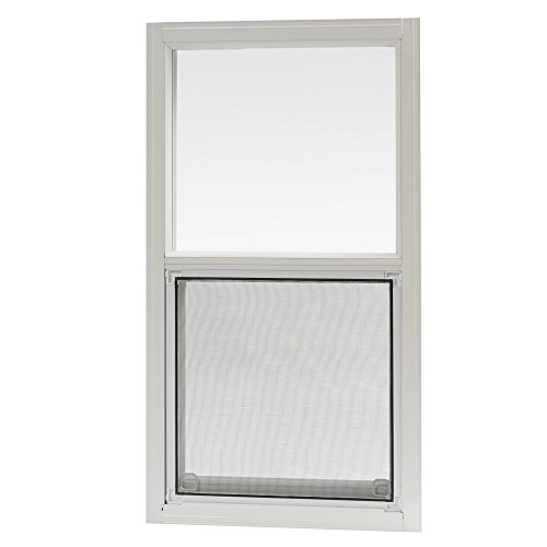 (Park Ridge Products AMHW1427PR Park Ridge 14 in. x 27 in. Aluminum Mobile Home Single Hung Window - White,)