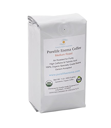Purelife Mold-Free Coffee for Enemas/Gerson Recommended/Medium Air Roast for Purity/Ground/ 100% Organic/Ships Direct and Fresh From Purelife