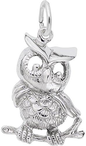 Rembrandt Owl Charm - Rembrandt Owl Charm - Metal - Sterling Silver