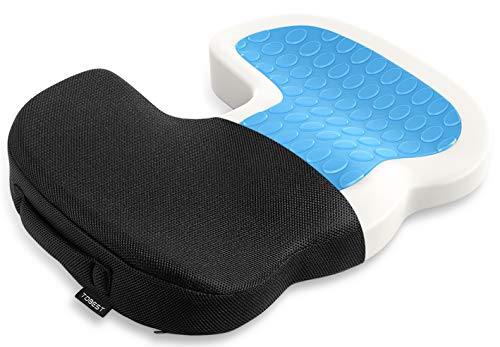 Tdbest Gel Enhanced Seat Cushion with Memory Foam, Lower Back Support and Pain Relief - Fits Office, Desk, Computer Chairs and Car - Desk Seat Chair Tractor