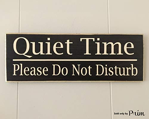 Quiet Time Do Not Disturb (Choose Color) Rustic Shabby Chic Sign Custom Home Wall Office Door Hanger Handmade ()