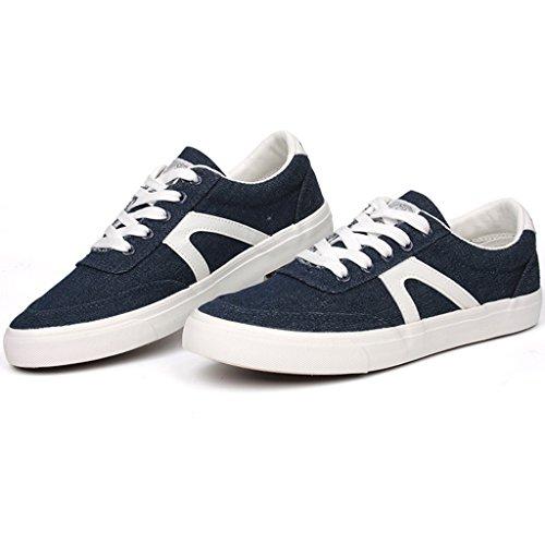 coreano basse scarpe aiutare Scarpe da Scarpe estivo stoffa Blue casual tela uomo di uomo le nuovo basse per scarpe Espadrillas scarpe scarpe traspirante stile da uomo di da Dark stile 0wxpXqHn1I