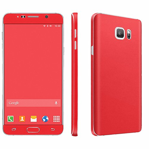 Samsung Galaxy Note 5 Phone Skin - [SkinGuardz] Full Body Scratch Proof Vinyl Decal Sticker with [WallPaper] ] - [Hot Red] for Samsung Galaxy Note 5