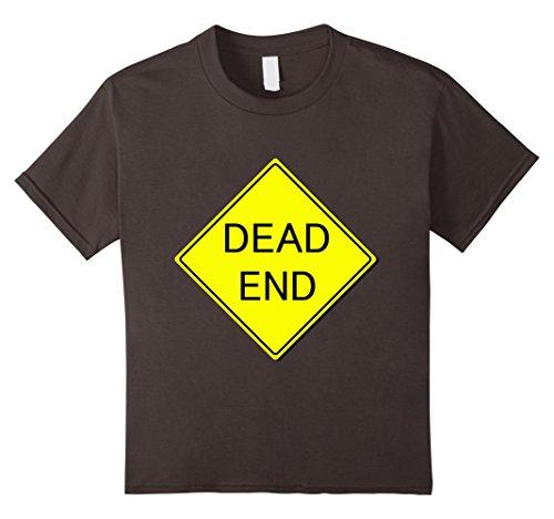 Kids Dead End Sign Simple Easy Halloween Costume T-Shirt 10 (Dead School Boy Halloween Costume Ideas)