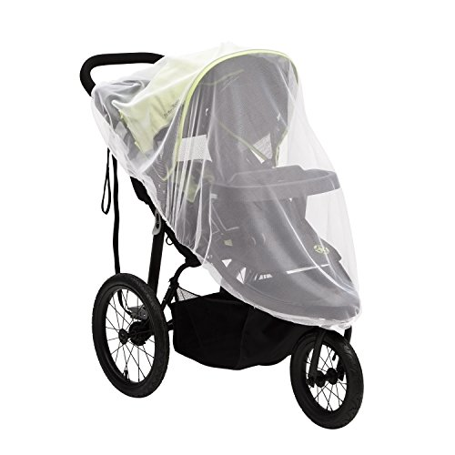 Mosquito Net for Strollers & Joggers Plus Pack n' Plays. Breathable with Elastic Netting for Easy fit, Delta Children, White