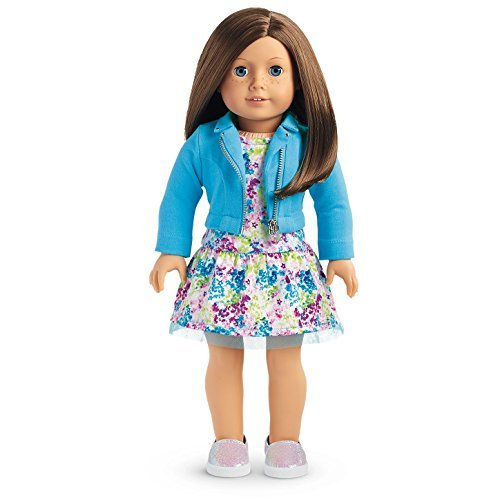 American Girl Truly Me Doll #23- Blue Eyes, Brown Hair, Light Skin Tone with Freckles (Best Hair For Blue Eyes)