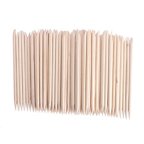 Adecco LLC 50PCS/150PCS/500PCS/1000PCS Nail Art Orange Wood Sticks Cuticle Pusher Remover Manicure Pedicure Tool 110mm (1000P)