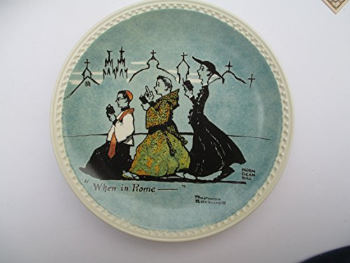 Rome Plate - Norman Rockwell Plate