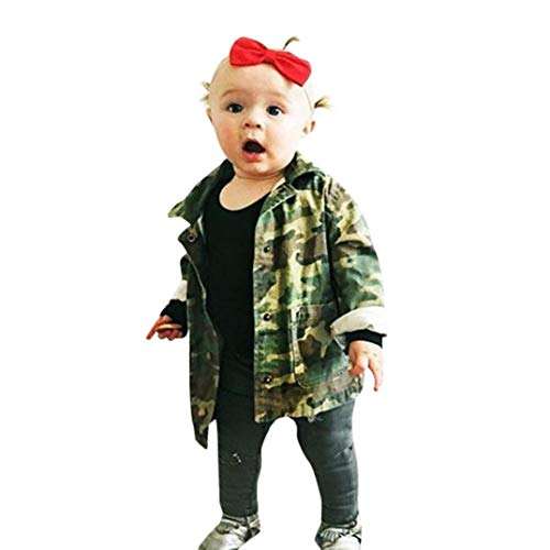 6ae681bb0f43 Amazon.com: Moonker Baby Denim Jacket 2-6 Years Old, Toddler Girls Boys Kids  Camouflage Letter Coat Cloak Warm Thick Outerwear Clothes: Clothing
