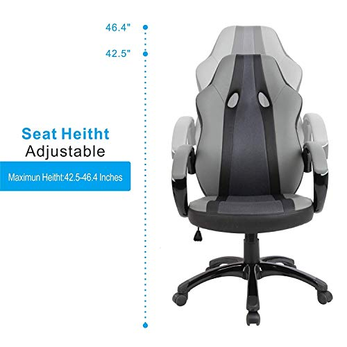 Astonishing Smugdesk Office Chair High Back Ergonomic Gaming Desk Chairs For Computer With Lumbar Support Bonded Leather Adjustable Swivel Comfortable Rolling Gmtry Best Dining Table And Chair Ideas Images Gmtryco