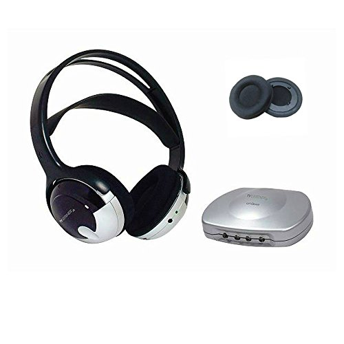 Amplifier Wireless Listener Tv (Bundle Tv Listener J3 Rechargeable Wireless Headset w/Extra Ear Pads)