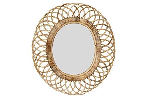 Creative Co-op Oval Woven Bamboo Wall Mirror, Brown (Wall Bamboo Mirror)