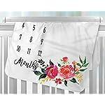 Milestone-Blanket-Large-Baby-Blankets-for-Girls-Newborn-Photography-Props-Baby-Girl-Gifts-Reuseable-Premium-Fleece-Baby-Monthly-Milestone-Blanket-Shower-Gifts-Flora-1