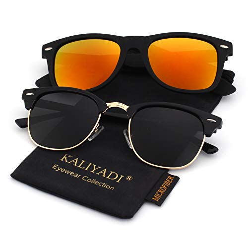 Unisex Polarized Retro Classic Trendy Stylish Sunglasses for Men Women Driving Sun glasses:100% UV ()