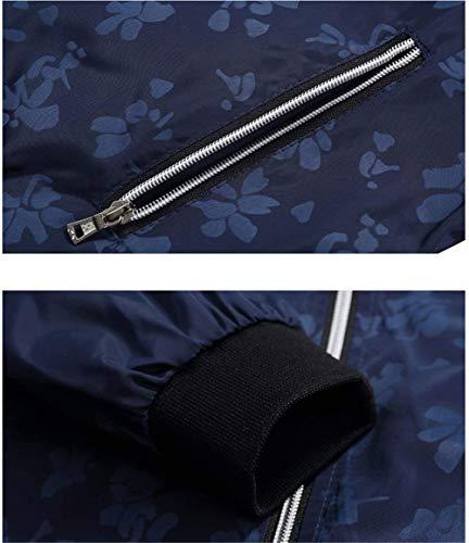 1 blau Classiche Libero Giacche Tempo Per Uomo In Vintage Il Uomo Poliestere Outdoor Bomber Da Classic aAwxAqZ