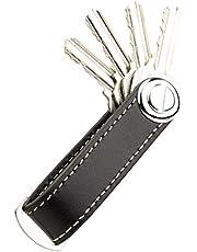 Portachiavi, organizer porta chiavi compatto in pelle DPOB - Portachiavi design intelligente e pratico - Realizzato in resistente pelle di qualità Premium