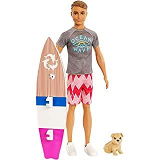 Barbie Dolphin Magic Ken Doll Puppy and Surfboard