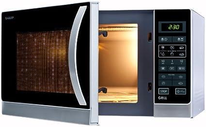 Sharp R-742(IN) W Microondas Grill 25L, Control Tactíl, 1000W, 900 ...