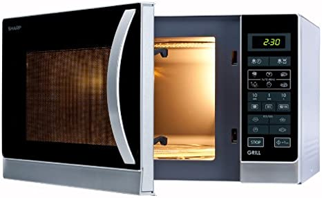 Sharp R-742(IN) W Microondas Grill 25L, Control Tactíl, 1000W, 900 W, 25 litros, Plateado: Sharp: Amazon.es: Hogar