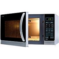 Sharp R-742(IN) W Microondas Grill 25L, Control Tactíl, 1000W, 900 W, 25 litros, Plateado
