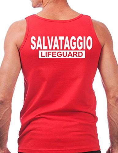 Wixsoo Lifeguard Uomo Salvataggio Canotta Canotta Wixsoo 10dwqTgng
