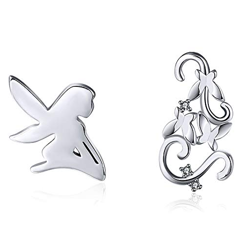 Fairy Butterfly Sterling Silver Stud Earrings Ginger Lyne Collection