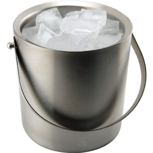Behind The Bar Stainless Steel Double Walled Ice Bucket - 3 Quart