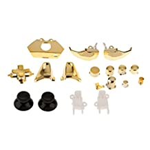 Set of 18 Replacement Controller Buttons Kit Set for Microsoft Xbox One Gold