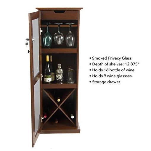 Home Bar Cabinetry Atlantic Herrin Locking Bar Cabinet – Store 16 Wine Bottles, Liquor Shelf, 9 Wine Glasses and More PN38408116 in… home bar cabinetry