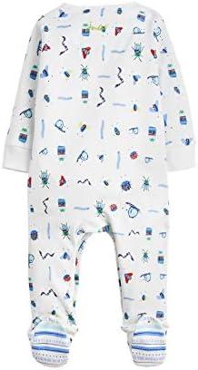 Joules Baby Boys Ziggy White Creepy Crawlies Babygrow Babygro Sleepsuit