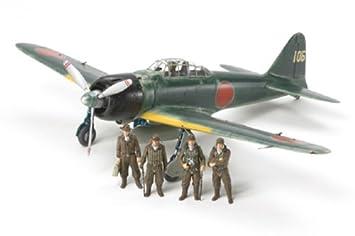 Tamiya 300061108 - Maqueta de avión Mitsubishi A6M3/3a Zero Fighter PE (Escala 1:48)