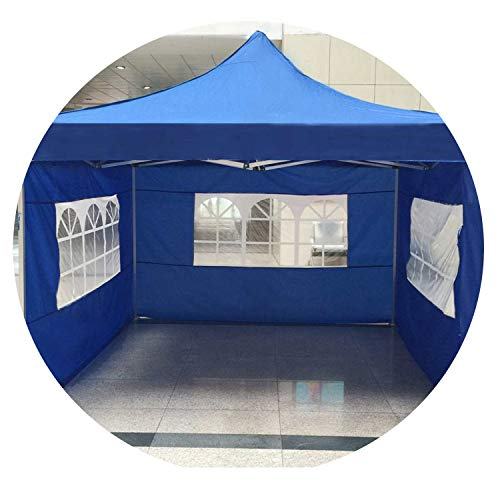 Goodforyou21 Oxford Cloth Party Tent with Sides Waterproof Outdoor Canopy 3X3M Sun Wall Tarp Sidewall Sunshade,Blauw