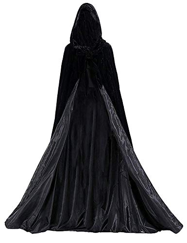 Michealboy Blue Medieval Renaissance Cloak Cape Lined with Satin Halloween Christmas