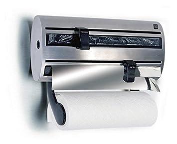 Kitchen Roll Holder Film Tin Foil Towel Wall Mounted Dispenser