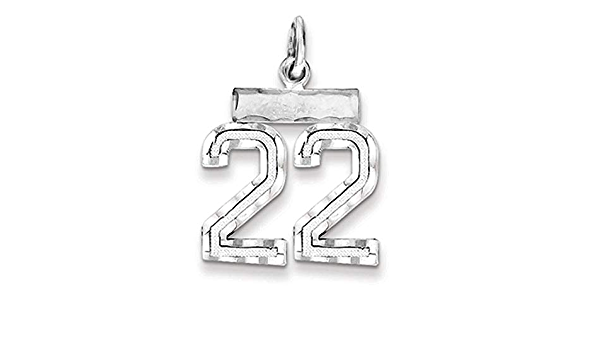Rhodium Plated Sterling Silver Small D//C Pendant Number 56 Varsity Collection