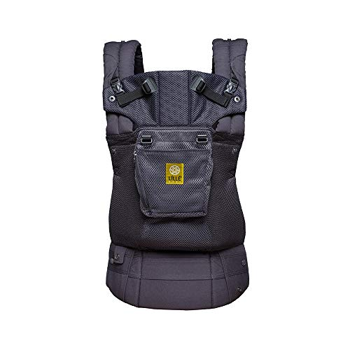 LÍLLÉbaby The Complete Airflow SIX-Position 360° Ergonomic Baby & Child Carrier, Charcoal - Cotton