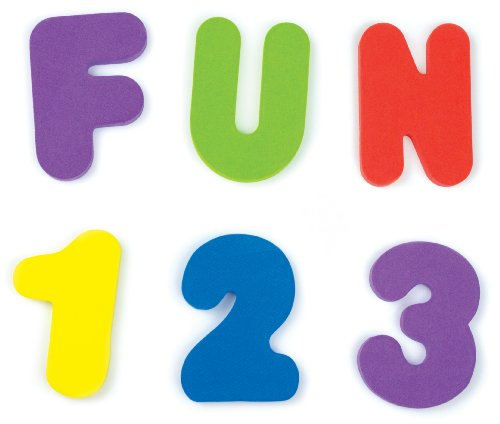 Munchkin Letters and Numbers Foam Bath Toys