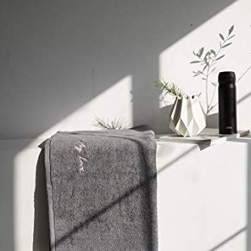 WLLLO Bordado Simple, algodón Puro, Toalla de Lavado de Cara Absorbente de Agua para Adultos, Toalla Suave de baño de algodón para el hogar, Él 140X70cm: ...