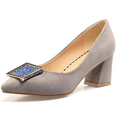 Zormey Zapatos De Mujer Chunky Talón Señaló Toe Slip En Bombear Más Colores Disponibles US6.5-7 / EU37 / UK4.5-5 / CN37