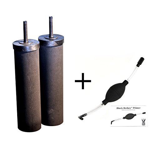 2 Black Berkey Replacement Elements & Black Berkey Primer