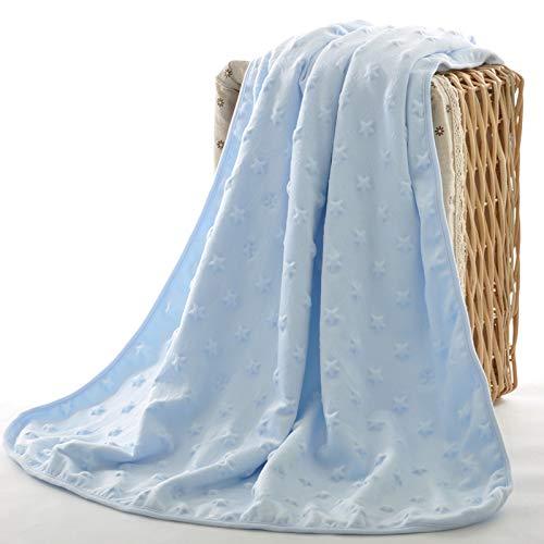 2 Seitige Blaue Baby-Meilenstein-Wende-Decke mit Blumen Fl/ügeln und /Öko Tex Zertifikat als Geburts-Geschenk